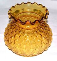 "NEW Vintage AMBER Quilted STUDENT 7"" Fitter 84431 LaMp GLoBe GlaSsWaRe ShAdE"