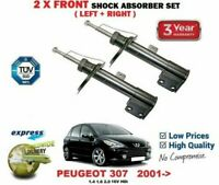for PEUGEOT 307 1.4 1.6 2.0 16V HDi 2000-> 2 FRONT LEFT + RIGHT SHOCK ABSORBERS