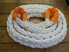 8 PLAIT 4 x 4 KINETIC RECOVERY TOW ROPE -  8MTR X 24MM DIAMETER