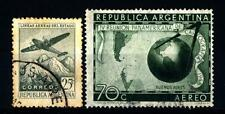 ARGENTINA - 1946-1949 - Aereo sopra le Ande; 4° Congresso Panamericano di Cartog