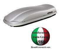 BOX BAULE PORTABAGAGLI TETTO AUTO FARAD MARLIN F3 N6 480LT GRIGIO GOFFRATO