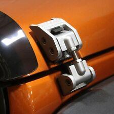 Silver Aluminum Hood Latches. 2007-2015 Jeep Wrangler JK