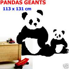 Sticker  MURAL DECO PANDAS GEANTS 131 x 113 cm  NOUVEAU