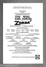 "Vivian Blaine ""ZORBA"" Michael Kermoyan / Kander & Ebb 1970 Fresno Playbill"