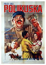 manifesto 2F orig POLIKUSKA Folco Lulli Antonella Lualdi Franco Interlenghi 1959