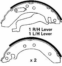 Rover 25, 45 00-07, 200, 400 89-00, MG-ZR 01-07, New Rear Brake Shoes