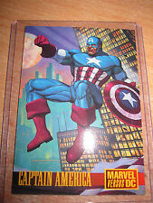 CARTE CARD BATMAN VS CAPTAIN AMERICA PROMO SKYBOX 1995 RARE MINT DC COMICS