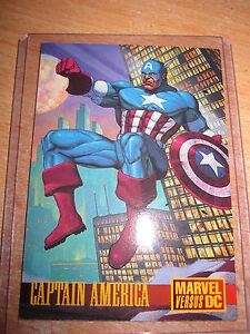 CARTE CARD BATMAN VS CAPTAIN AMERICA PROMO SKYBOX 1995 RARE MINT DC COMICS
