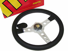 MOMO Steering Wheel - Prototipo (350mm/Leather/White Stitch/Silver Spoke)