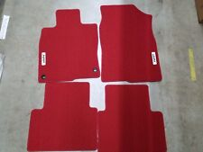 NEW GENUINE HONDA RED HFP CARPET MATS 2017 2018 CIVIC 4 / 5 DOOR 08P15-TGG-110A