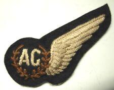 WW2 RAF Aerial Gunner Padded Half Wing - Brit Made  - Silk Thread on Melton - AG