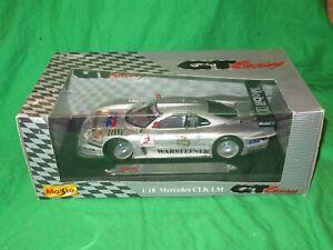 Maisto 1/18th scale Mercedes Benz CLK LM VGC boxed