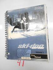 2001 SKI-DOO SNOWMOBILE VOLUME 1 P/N 484 200 022 SHOP MANUAL