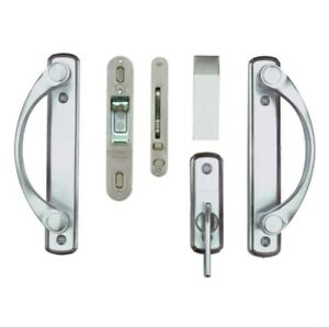 Andersen Newbury 2-Panel Gliding Door Hardware Set in Brushed Chrome NOS