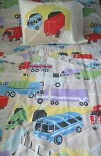 CARS,TRUCKS, BUSES, HIGHWAYS, TUNNELS - 3 PC TWIN SHEET SET - POLYESTER BLEND