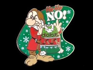 Disney Snow White Dwarf - Grumpy Christmas Sweater HoHo NO!  Pin
