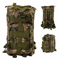 30L Military Tactical Backpack Molle Rucksacks Camping Hiking Trekking Bag BT