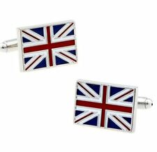 UNION JACK FLAG UK   ENAMELED  CUFFLINKS BRAND NEW