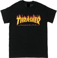 Thrasher Magazine Flame T-shirt Skateboarding Tee