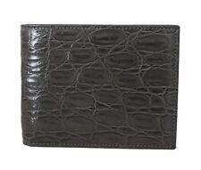 b453f6a4877 Dolce & Gabbana Bordeaux Caiman Alligator Bifold Wallet