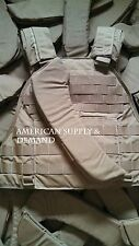 NEW Eagle Industries Scalable Plate Carrier Shoulder Pads M-XL Coy. Tan Mil-Spec