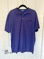 J. McLaughlin Short Sleeve Blue Golf Polo Shirt Men's Size Large