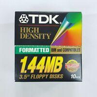 TDK Media 3.5in 1.44MB IBM Formatted High Density floppy disks 8pack