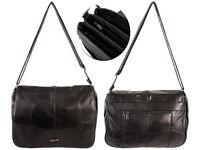 POPULAR WOMEN'S STYLISH SOFT LEATHER SHOULDER BAG ORGANISER ACROSS BODY BLACK