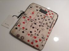 BNWT 100% Auth Paul Smith, 'Playing Cards' Print iPad Tablet Case. RRP £125.00