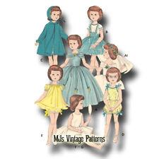 "Vtg 1950s Doll Pattern Wedding Gown 14"" 15"" Sweet Sue, Miss Revlon, Toni"