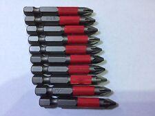 Screwdriver Bits pz2 torsion 10pcs 50mm fits bocsh makita dewalt impact driver