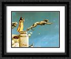 Gargoyles 2x Matted 24x20 Black Ornate Framed Art Print by Michael Parkes