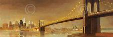 Brooklyn Bridge by Paulo Romero Art Print NYC Cityscape City Poster 22x62