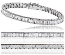 Diamond Tennis Bracelet: Certified 5.00ct F VS Baguette Cut, in 18ct White Gold
