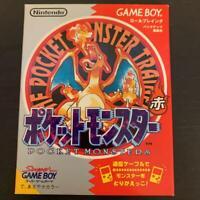 Nintendo Gameboy Pokemon Red Version Pocket monsters GB Japan With box Retro