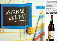 Publicité Advertising 028  1980    le vin de table Julien Damoy  ( 2p)