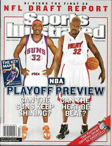 2005 Sports Illustrated Magazine NBA Playoff Preview SHAQ  NO LABEL MINT