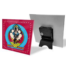 Wonder Woman DC Comics Glass Desk Clock Mothers Day Birthday Christmas Gift