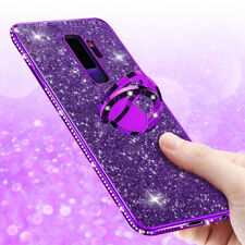 Luxury Bling Diamond Ring Holder Stand Phone Case Cover For Samsung Galaxy S9