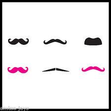 MOUSTACHE Tattoos X 12 - Movember - Favours - Pink/Black - MUSTACHE - Dress up