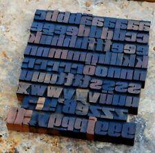 "a-z alphabet 1.06"" letterpress wooden printing blocks wood type vintage printer."