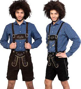 Almwerk Herren Trachten Lederhose kurz Modell Sepp in braun und schwarz neu