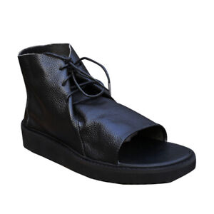 Summer High Top Roma Open Toe Retro Creepers Mens Sports Lace Up Casual Sandals