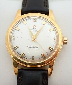 VINTAGE MENS OMEGA CALIBER 354 18K SOLID GOLD BUMPER AUTOMATIC WRISTWATCH WATCH