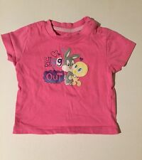 Looney Toons baby filles rose Baby Tweety et Bugs Bunny T-shirt 0-2 mois short