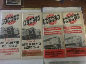 C&NW Chicago & Northwestern RR Public Timetables 1941-52
