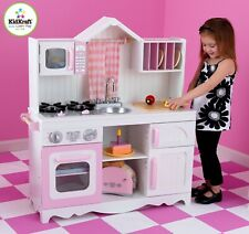 Kidkraft Modern Country Kitchen | Kids Wooden Play Kitchen | Kidkraft Kitchen