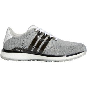 NEW Mens Adidas Tour 360 XT-Spikeless Textile Golf Shoes White/Black/Grey Sz 9 M