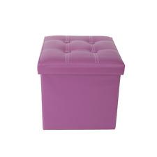 Mobili Rebecca® Puff contenitore Sgabello Cubo Baule Viola Arredamento Moderno