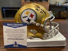 Joe Greene Autographed Pittsburgh Steelers Blaze Mini Helmet HOF 87 Beckett